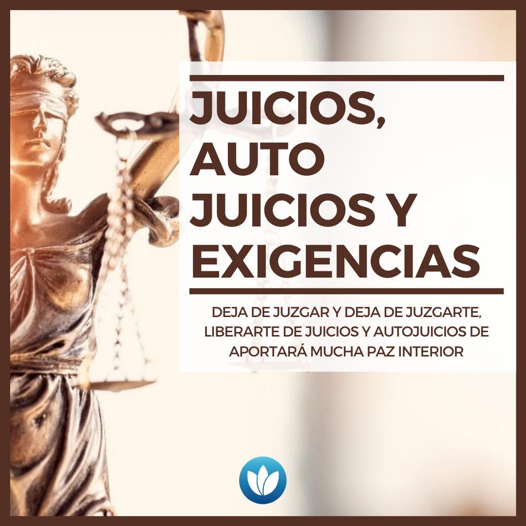 Juicios, auto juicios y exigencias